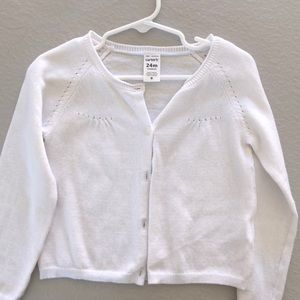 Carter's White Cardigan